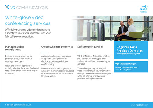 Datasheet - White-glove video conferencing services - VQ
